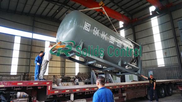 Ash tank for horizontal directional drilling, high efficiency ash tank